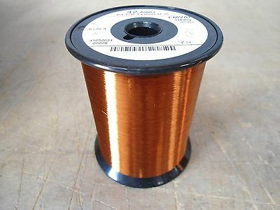 AWG 42 HEAVY FORMVAR Copper Magnet Wire / Weight 1.24 lbs