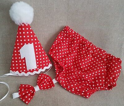 ***Boys Baby Photo Prop Red Spot Outfit - 1st Birthday/Cake Smash ***