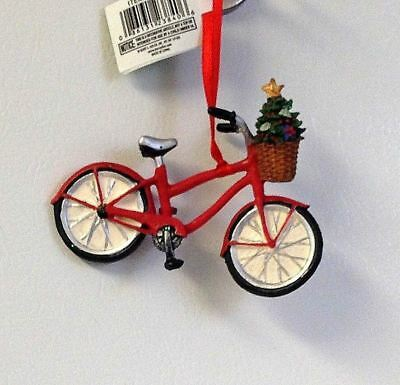 Love Bicycling? For The Bicycle Rider Bike With Tree Christmas Ornament New