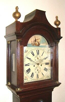 A Georgian Oak Nautical Longcase Grandfather clock C1830