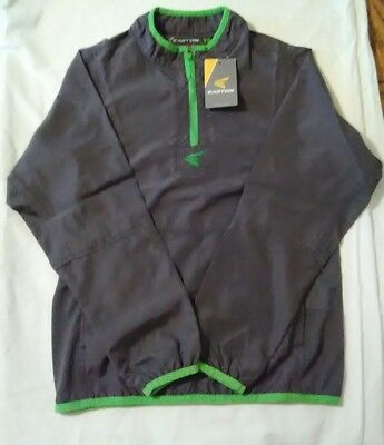 Easton Youth Small YS M5 Cage Jacket Gray Green Long Sleeve NWT Baseball Boys