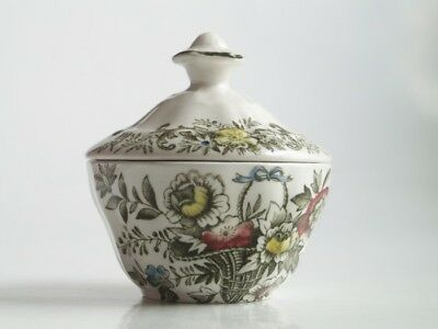 Staffordshire Ridgway Old English Bouquet Zuckerdose