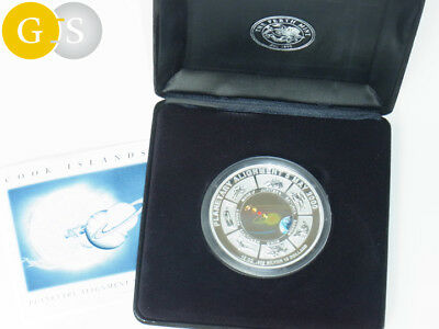 10 Ounce Silver Proof like coloured Planetary Alignment Cook Islands 2000 Perth