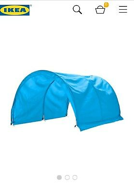 ikea kura bed tent tunnel canopy blue and green