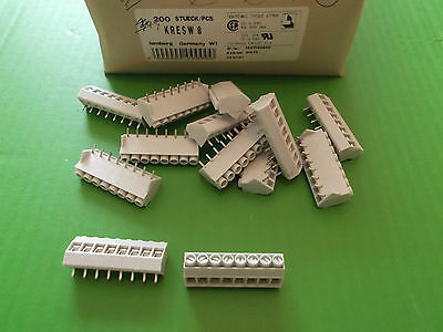 Terminal Block 8 Way 15 Amps 15A Blocks Angled 5mm KRESW8 Lumberg 10pcs Offers