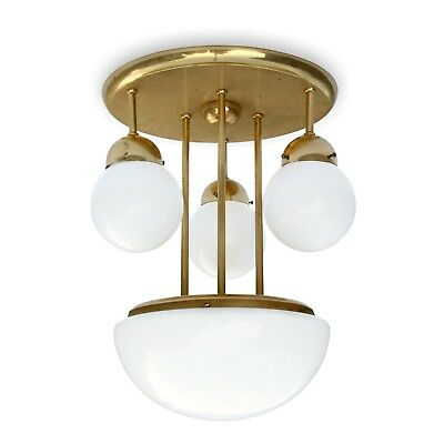 Deckenlampe Messing Glaskugeln Leuchter Jugendstil-Design