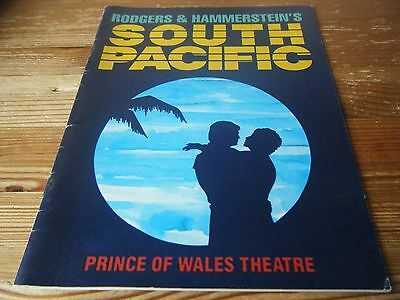 1988  Theatre  Programme  - South  Pacific -  At The Prince Of Wales Theatre Vgc