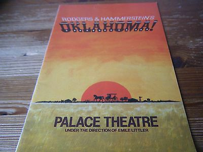 1981  Theatre  Programme  - Oklahoma -   At The Palace Theatre  London Vgc
