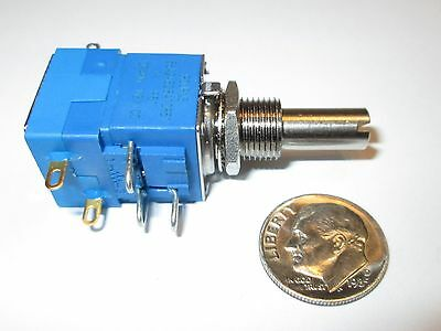 "BOURNS SERIES 86A2  1K OHM LINEAR  POTENTIOMETER W/SWITCH   5/8"" SQ.  1 pcs  NOS"