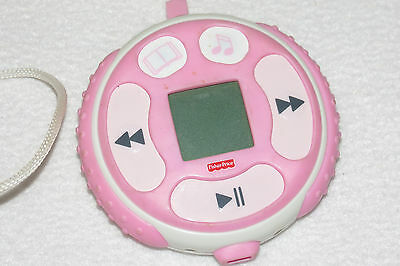 Fisher Price Kid Tough FP3 Song & Story Player Mp3 Music Pink WORKS GREAT Exc