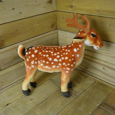 50cm Christmas Soft Brown Reindeer / Stag Standing Decoration / Toy