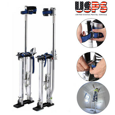 24-40 Inch Drywall Stilts Aluminum Tool Painters Walking Taping Finishing Silver