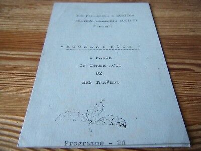 1940s THEATRE PROGRAMME -  ROOKERY - NOOK  BY THE PARKINSON DRAMATIC SOCIETY VGC