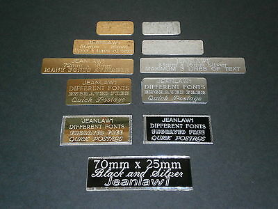 Sports Trophy Engraved Plate, Self Adhesive Gift Label, Signs or Plaque Picture