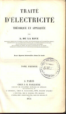 Science Physics Electricity Magnetism Early Telegraphy French De La Rive