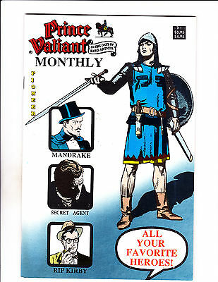 """Prince Valiant Monthly No 1 -1989-Strip Reprints Soft Cover- """"Favorite Heroes """""""