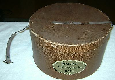 Vintage Resistol Self Conforming Hat Box with Carrying Strap