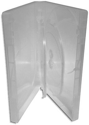 4-Pak Viva One-Time™ Quad 25mm Clear DVD Boxes w/ Two Hinged Flaps