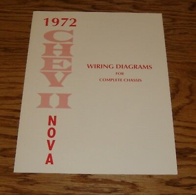 1972 Chevrolet Chevy II Nova Wiring Diagrams for Complete Chassis 72
