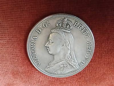 Queen Victoria Crown Coin 1887 (reproduction).