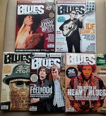 """""""THE BLUES MAGAZINE"""" 5 issues As New with discs"""