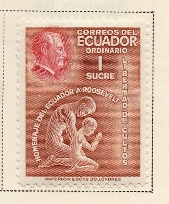 Ecuador 1948 Early Issue Fine Mint Hinged 1S. 170456