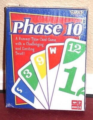 Phase 10 Rummy-Type Card Game With A Challenging Twist by Fundex NEW 2001 8+