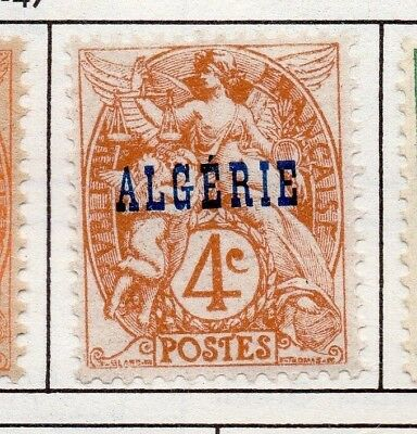 Algeria 1924 Early Issue Fine Mint Hinged 4c. Optd 170503