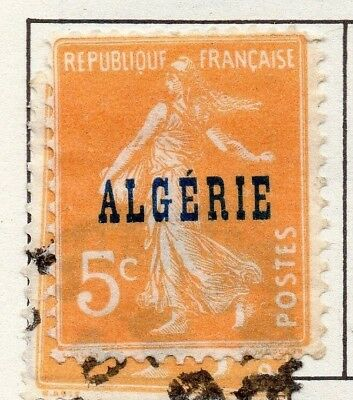 Algeria 1924 Early Issue Fine Mint Hinged 5c. Optd 170505