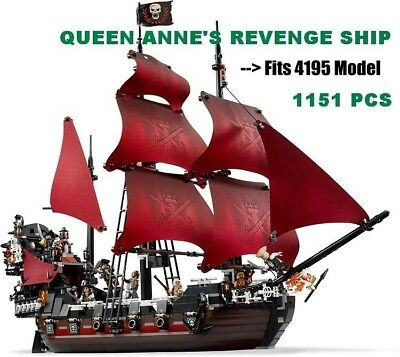 Hot Deal QUEEN ANNE'S REVENGE: 1151pcs Pirates Of The Caribbean - Fits LEGO 4195