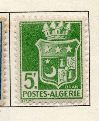 Algeria 1942-45 Early Issue Fine Mint Hinged 5F. 170580