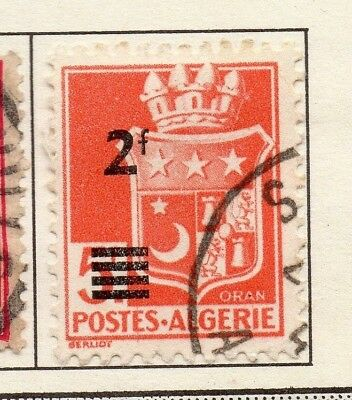 Algeria 1942-45 Early Issue Fine Mint Hinged 2F. Surcharged 170622