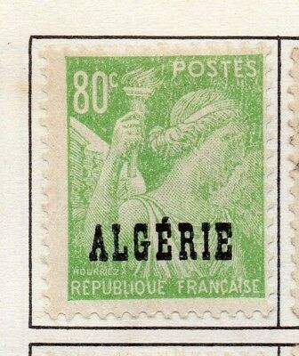Algeria 1945-48 Early Issue Fine Mint Hinged 80c. Optd 170623