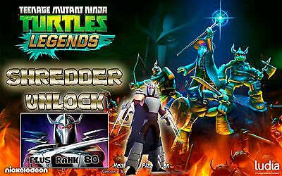 Teenage Mutant Ninja Turtles Legends game Android iOS SHREDDER UNLOCK + LVL 80