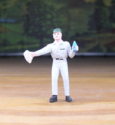 Pewter Railroad Figure People Gas Station Attendant O -S Scale Nos Train Layouts