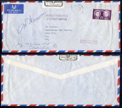 Ireland 1962 Airmail To Usa Officially Sealed