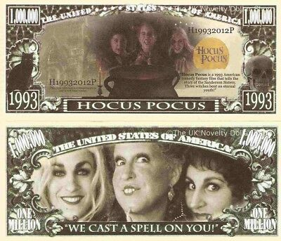 Hocus Pocus We Cast A Spell On You Million Dollar Bills x 4 Three Witches Comedy