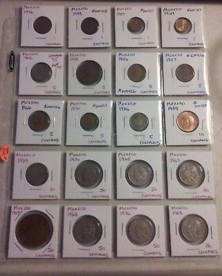 Mexico Coin Lot - (1906 to 1983) -20 Different Carded Coins - (#CWCP162)