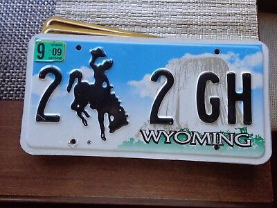 4 DIGIT WYOMING license plate (OVER THREE YEARS OLD)