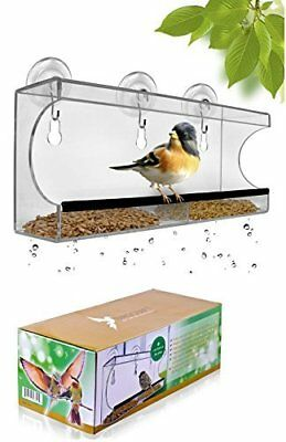 Large Window Bird Feeder with Removable Tray and 3 Suction Cups by Birdcraft