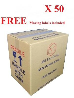 50 Cardboard Packing Boxes Removal Moving Storage Heavy Duty Carton