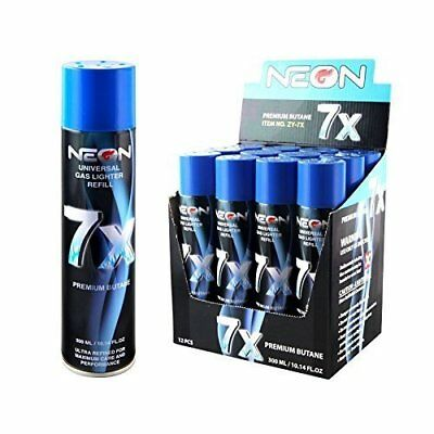 Neon Butane Spray for Refilling Fuel in a Wide Range of Lighters - 24 Pack 300mL