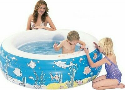 Aquafun Doodle Inflatable Pool, Kids Toddler Splash Pools, Crayons included