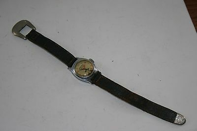 VINTAGE HOPALONG CASSIDY WATCH with LEATHER BAND