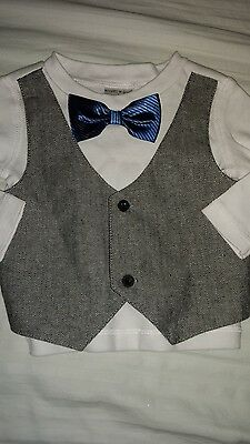 Dressed to drool boys sz. 6 month bow tie/ vest top. Cute