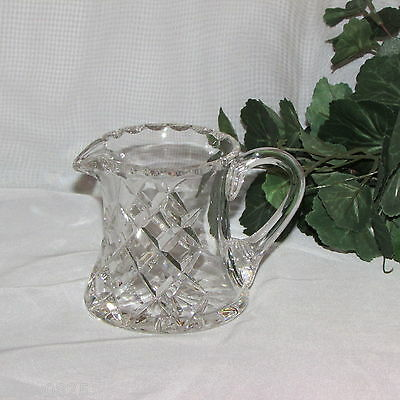 Inwald Crystal Creamer Cream Pitcher Milk Jug Czech Elegant Glass Tableware