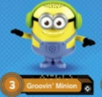 Happy meal Minions 2017 Cattivissimo Me 3 Groovin nuovo