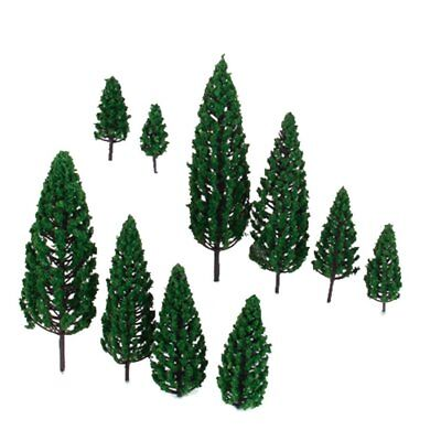 10x1.9 inch - 6.3 inch Train Scenery Landscape Model Pyramidal Trees Scale 1/50