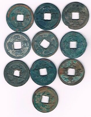 CHINA : 6 lots of 10 CASH COINS  11th Century A.D. Northern Song