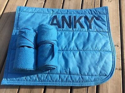 ANKY Jeanne Blue Dressage Pad And Bandages